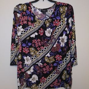Multi color floral top